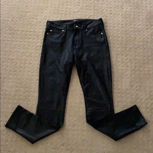 7 For All Mankind coated skinny jeans 28